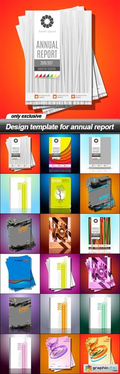 Design template for annual report - 18 EPS