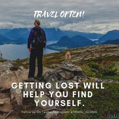 """""""Travel Often"""" (^_^) """"Getting Lost Will Help You Find Yourself"""" \m/  #FollowUs & #StayUpdated :) #travel #nature #discoveryourself #findyourself #travelgram #photography #instatravel #green #water #instatraveler #adventures #instatrip #instaquote #motivation #subscribe #startups #business #onlinetravelagency #comingsoon #quote #quotestoliveby #ilovetravelling #ilovenature #explore #discover #liveitup #memories"""