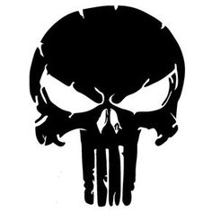 Punisher Skull Die Cut Vinyl Decal PV1096