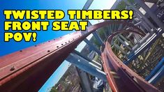 Twisted Timbers Roller Coaster Front Seat *REAL* POV Kings Dominion 2018...