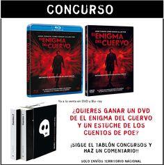 ¿Quieres ganar un dvd de EL ENIGMA DEL CUERVO y un estuche de los cuentos de Poe? Para escucharlos y dormir a gusto.