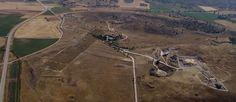 Vista aérea del Campo Arqueológico de Segóbriga. Imagen sacada de la página web del Campo Arqueológico