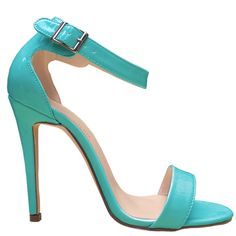 Girls Ladies Womens Party Toe Bridal Patent High Heels Shoes Sandals UK Size 2-9   eBay