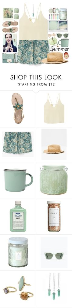 """Summer Hats"" by doga1 on Polyvore featuring Kate Spade, MANGO, Polaroid, canvas, The Amazing Flameless Candle, John Allan's, CB2, Voluspa, Zara and Jimmy Choo"