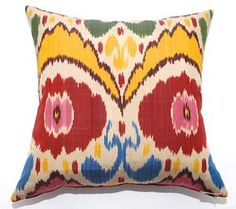 Silk Ikat Pillow, Kathryn Ireland is this perfection or what?