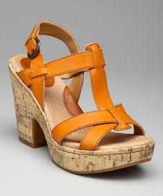 Take a look at this Tangerine Sallyanne Sandal by b.o.c by Born on #zulily today!