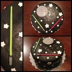 Star Wars baby shower theme cake