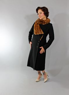 61f3796a3a7 1930s Vintage Coat. Vintage Fall