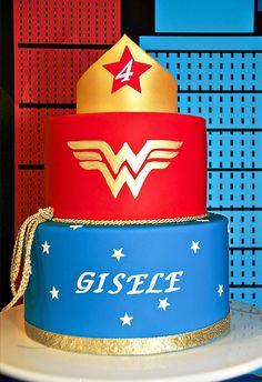 Comic Inspired Wonder Woman Dessert Table