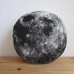 Plush Moon Pillow
