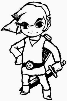 link and zelda coloring pages - Stencils For Boys