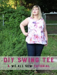 In this tutorial, we'll turn your favorite t-shirt pattern into a cute swing tee for summer!