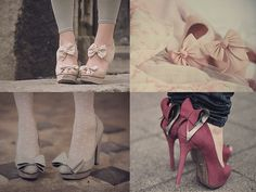 Shoes with bows.