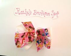 Hey, I found this really awesome Etsy listing at https://www.etsy.com/listing/198919275/stacked-boutique-hairbow-disney-princess