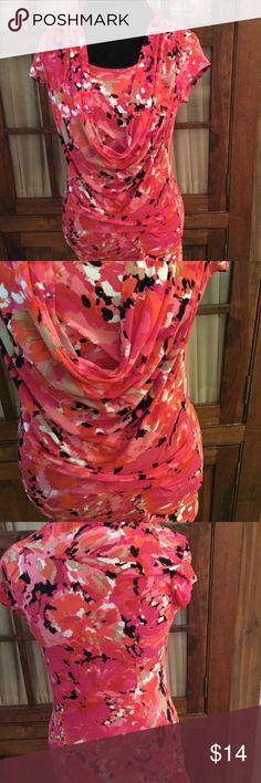 Anne Klein Anne Klein stretch blouse - short sleeves and scoop draped neckline - see closeup photos. Anne Klein Tops Blouses