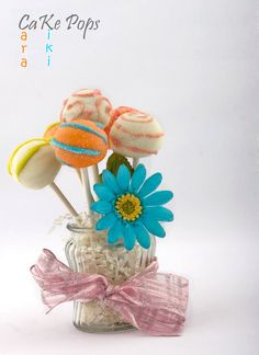 Beautiful Mother's Day Cake Pops from your friendly, Cara & Kiki's Cake Pops!  Made by Cara & Kristin