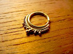 Esha. 18g/20g/22g Tribal Fusion Belly Dance 14k Gold septum ring / nose / helix / forward helix / rook /diath / nipple ring on Etsy, $105.00