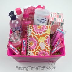 Pink themed basket-1
