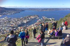 Bergen Fløyen: Hvor lang tid tar det å gå opp Fløyen? Bergen, Norway, Dolores Park, Travel, Instagram, Viajes, Destinations, Traveling, Trips
