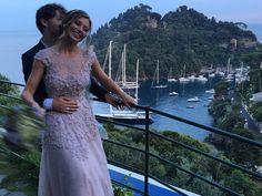 Aly Michalka's Romantic Lavender Wedding Dress Was Basically Perfection   Photo by: Instagram.com/amandajoy78   TheKnot.com