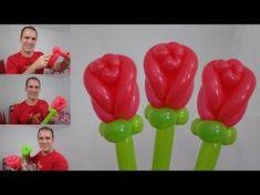 Ramas o varitas de globos_ branches or twigs balloons twisting_tutorial How To Make Balloon, One Balloon, Balloon Flowers, Balloon Columns, Balloon Bouquet, Valentines Balloons, Birthday Balloons, Sculpture Ballon, Clown Balloons