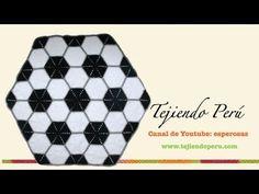Manta pelota football para niños tejida a crochet