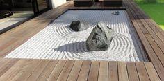 Decoración exterior de jardines zen