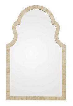 341-321  W 29-7/8 | D 1 | H 48-3/8 in. W 75.88 | D 2.54 | H 122.87 cm.  Wood-framed mirror with inlaid bone covered surface and non-beveled ...