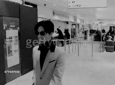 Prince at Heathrow airport after arriving for a public appearance in London, England, February 16, 2006.