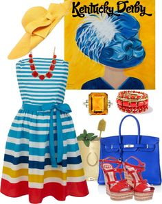 """""""Kentucky Derby"""" by cellisfairley ❤ liked on Polyvore"""