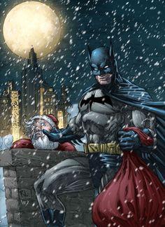 Batman X-mas Colored by RudyVasquez.deviantart.com on @DeviantArt