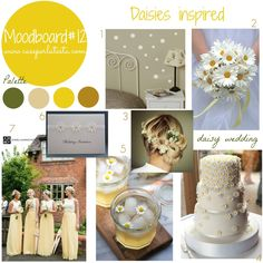 It's #springtime everywhere! #Flowers symbols of #spring? #Daisies! Today my moodboard is #daisies insipred! Join me with your #moodboard, each Wednesday till next Monday! #mymoodboardonwednesday #linkyparty