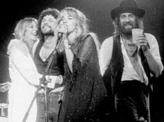 """Mick Fleetwood, Stevie Nicks & Lindsey Buckingham It was a humongous hit, but Fleetwood Macs Rumors also documented one hellacious romantic mess. Buckingham and Nicks were breaking up when they recorded songs like Go Your Own Way, while Fleetwood was divorcing his wife and falling in love with Nicks. Oh, and the bands other couple, John and Christine McVie, was also splitting up.  ^  """"ALL A MATTER OF OPINION. . ."""" ^"""