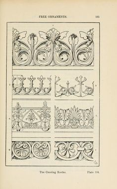A handbook of ornament Free ornaments the link border enrichment of moulding page 165
