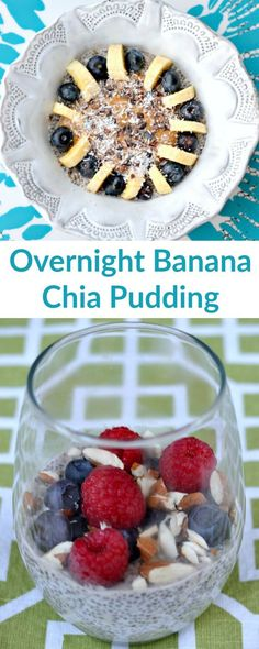 This overnight banana chia pudding is easy to make the night before for a quick and healthy breakfast the next morning. Whole30 approved, paleo and vegan!