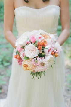 Orange Themed Wedding in Griffith Woods from onelove photography  Read more - http://www.stylemepretty.com/2013/10/21/orange-themed-wedding-in-griffith-woods-from-onelove-photography/