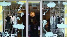 Our lasercut card map panels for window dressing in Fenn Wright Manson, London