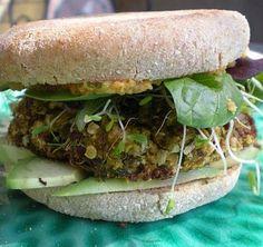 roasted pepper quinoa burger - skinny bitch recipe - A-FREAKING-MAZING!
