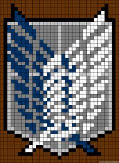 Attack on Titan perler bead pattern