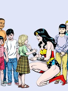 Ambassador Diana Photographed with Young Admirers Near the U.N.  Taken By Jimmy Olsen for the Daily Planet