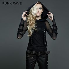 New Punk Rave Emo Rockabilly Gothic Vintage Top Shirt Cotton Women fashion M XL Alternative Measures