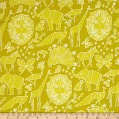 Michael Miller Origami Oasis Fold Starfruit from @fabricdotcom  Designed by Tamara Kate for Michael Miller, this cotton print fabric is perfect for quilting, apparel and home decor accents. Colors include shades of sour yellow.