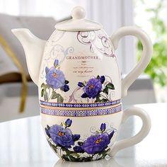 Grandmother's Teapot and teacup set