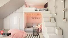 Cz_01 pokój starszej siostry - Pokój dziecka, styl nowoczesny - zdjęcie od InSign Pracownia Projektowa