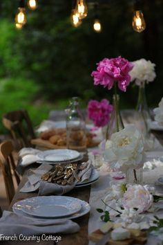 A few favorite tips for adding ambiance to summer parties - French Country Cottage
