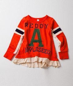 裾フリル長袖Tシャツ/REDDY APPLESEED