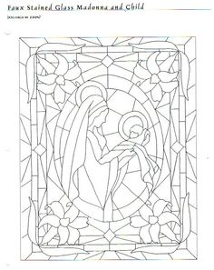 faux stained glass madonna & child