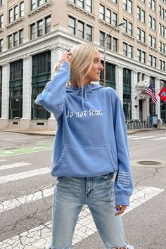 Christian Hoodies, Christian Clothing, Christian Apparel, Christian Jewelry, Teen Girl Outfits, Chill Outfits, Do Not Fear, Vintage Looks, Long Sleeve Tees