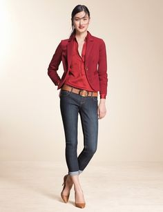 Top Look   THE LIMITED #DenimLooks #CuffedSkinnyJean #TheLimited