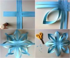 Gift wrap bow - good way to reuse long slim scraps of wrapping paper.